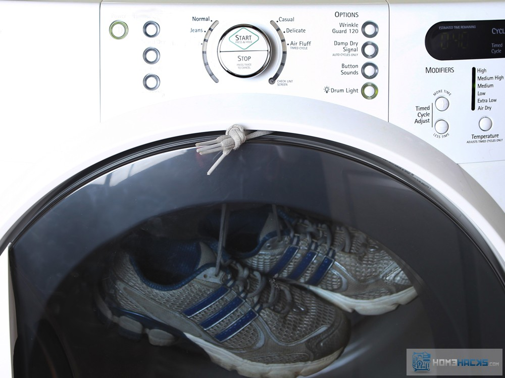 Dry Shoes in a Dryer Quietly - HomeHacks