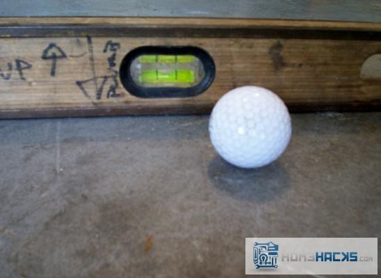 uneven floor finder golf ball