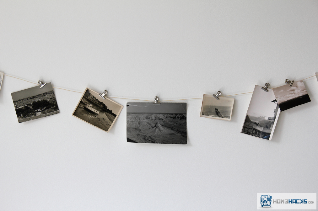 Simple, Fast, Inexpensive And Stylish Photo Wall Decor