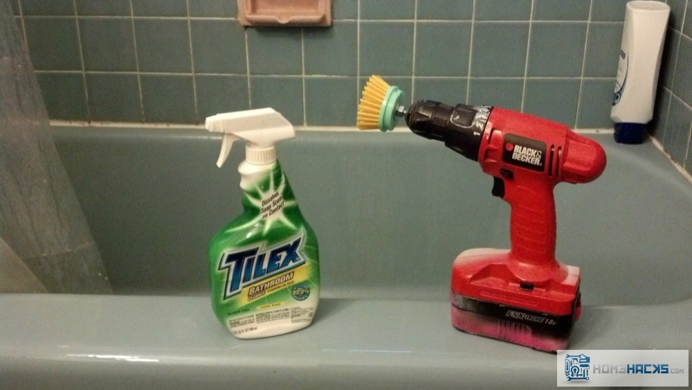 Power Tool Bath And Tile Scrubbing Homehacks