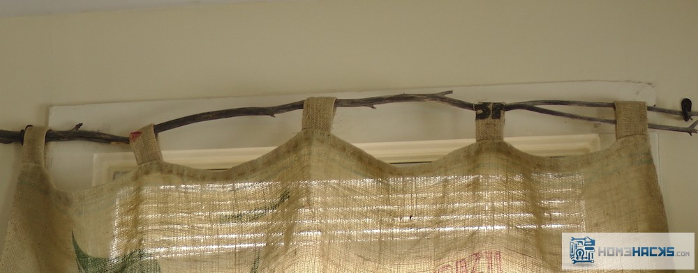 how to make a tree branch curtain rod homehacks