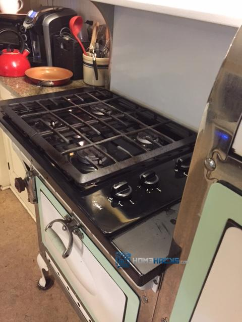 retrofit an antique stove how to. she was able to save her 1920's stove