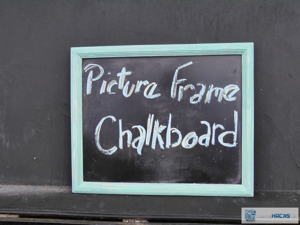 Picture Frame Chalkboard Diy Shabby Chic Message Board