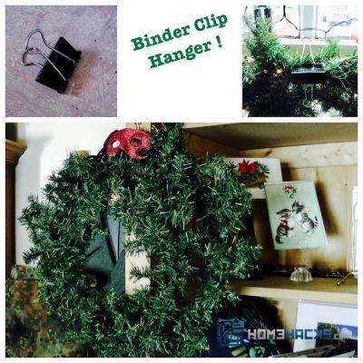 Use Binder Clips to Hang Decorations