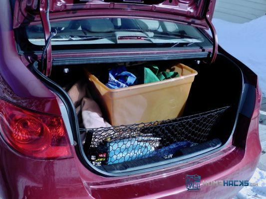 Keep a Laundry Basket in Your Vehicle to Carry Groceries into the House