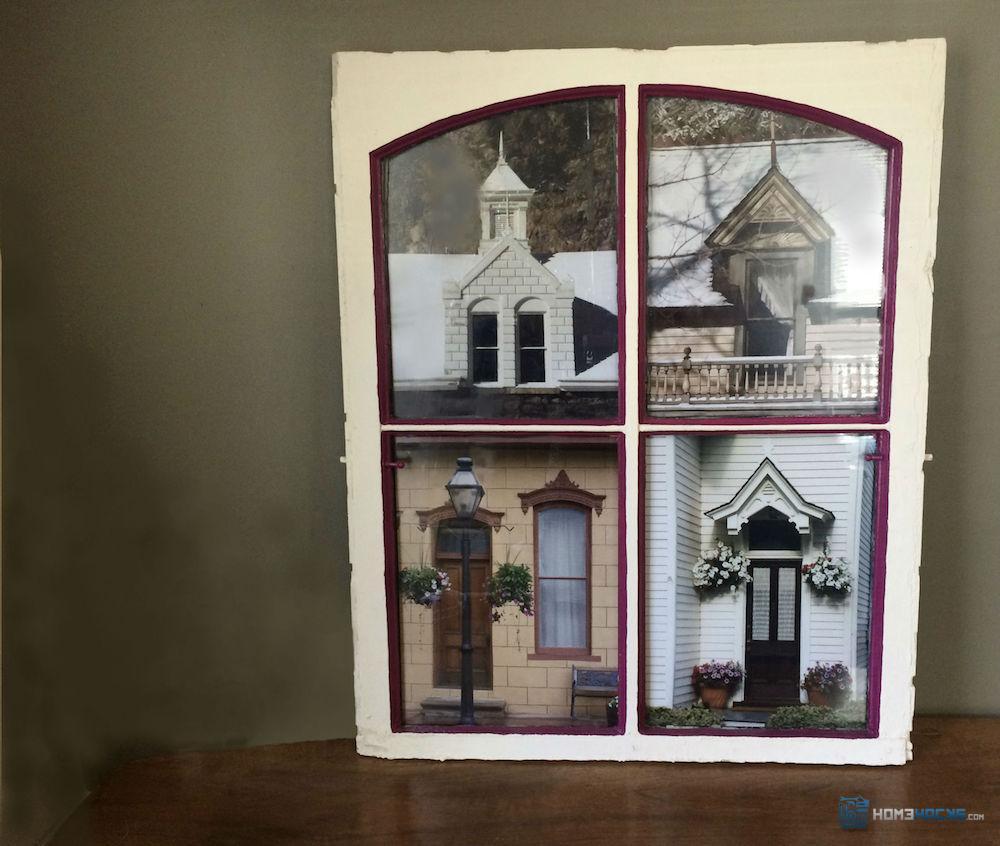 Antique Window Art - Home Decorating Ideas \u0026 Interior Design & Fancy Window Frame Art Motif - Picture Frame Ideas ...