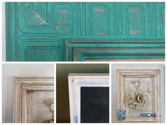 Milk Paint Old Picture Frames