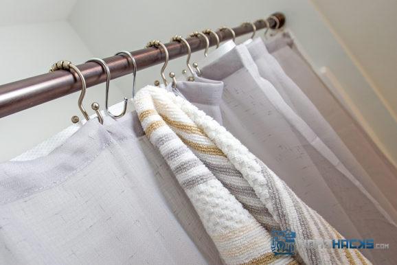 bathroom towel hook saves space